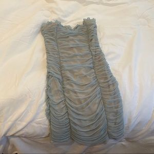 Fashionnova pastel blue dress